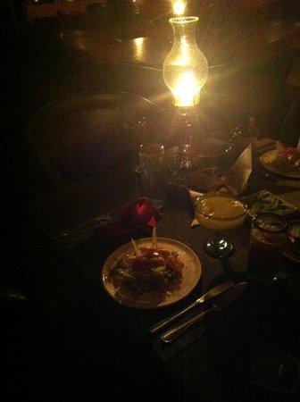 Haramara Retreat: Delicious candlelit dinner