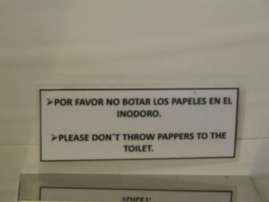 """SM Hotel & Business: Sign warning about """"Pappers"""""""
