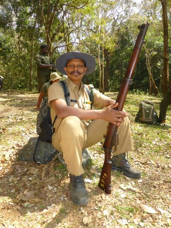 Periyar Tiger Reserve : This rifleman was part of the tiger park's safety protocol.