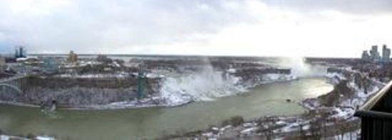 Sheraton on the Falls: View of Niagara Falls from our balcony.