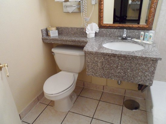 Quality Inn & Suites Airport : The bathroom.