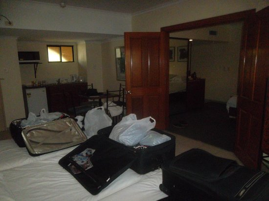 """Palm Royale Cairns: """"Quad Pool View Room - Kids side of room"""