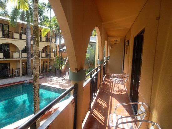 """Palm Royale Cairns: """"Quad Pool View Room - Balcony"""