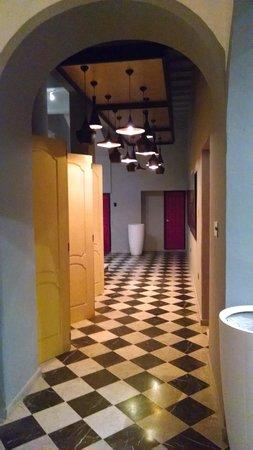 Monastery Art Suites : hallway from lobby