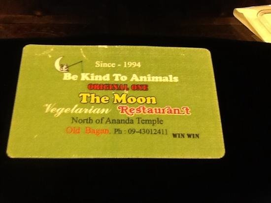 Business card picture of be kind to animals the moon bagan be kind to animals the moon business card colourmoves
