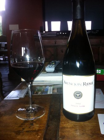 Asuncion Ridge : The wine