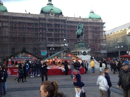 Little Christmas Market Picture Of Trg Republike