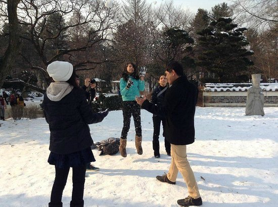 Nami Island: K Popping while Snowing
