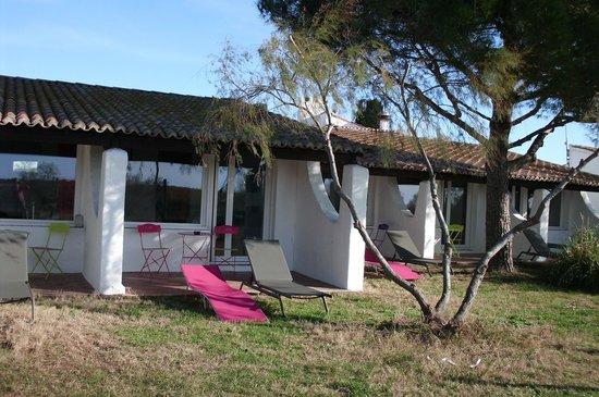 La Palunette : chambre avec terrasse privative
