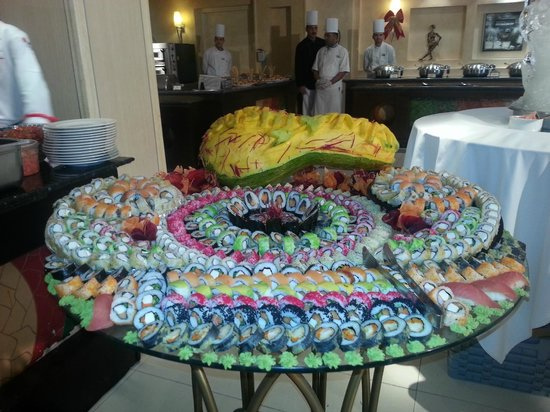 Sensimar Premier Le Reve: One of the many Xmas celebration food displays