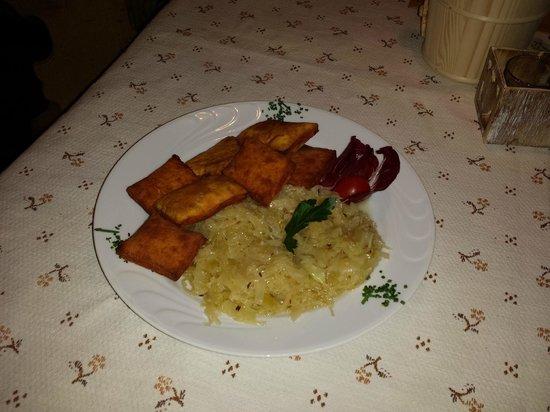 Speckstuben Ruacia : frittelle di patate con crauti