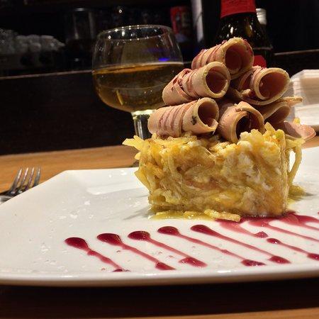 La Flauta: Huevos estrellados con foie