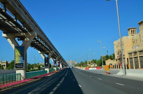 Palm Jumeirah : Монорельс на пальмовам острове