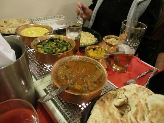 Tajmahal Tandoori Restaurant: Selection of our food