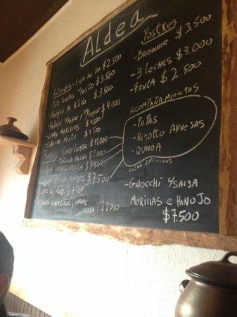 Aldea restaurant : The Menu