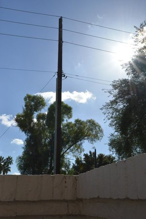 Scottsdale Camelback Resort : We were told we had a mountain view... do you see a mountain?! I see power lines!