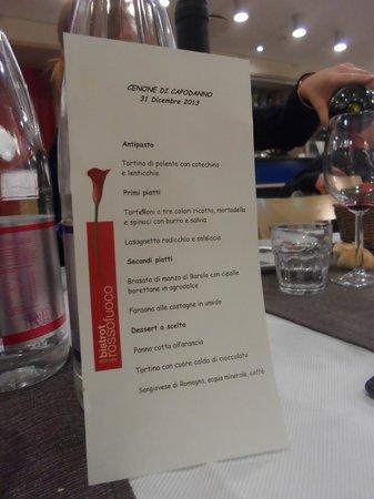 Ramada Encore Bologna : Le menu du repas du 31 décembre 2013