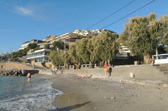Miramare Resort & Spa : Вид на пляж и ресторан (с левой стороны)