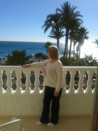 Servigroup La Zenia : My wife enjoying the view