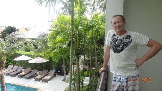 Lamai Buri Resort: На балконе