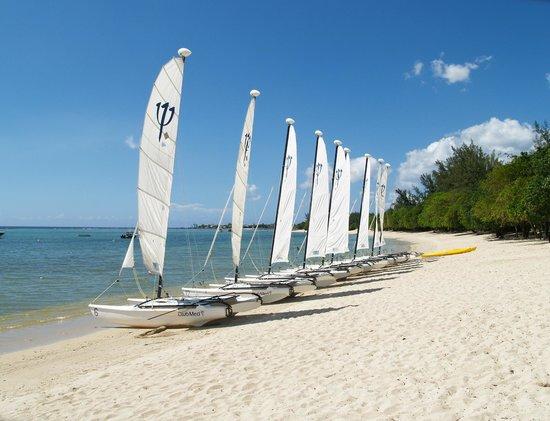 Club Med La Plantation d'Albion: Activité Catamaran plage animée