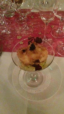 Les Violettes Hotel & Spa Alsace, BW PREMIER Collection: tartare de langoustine et oeuf restaurant gastronomique