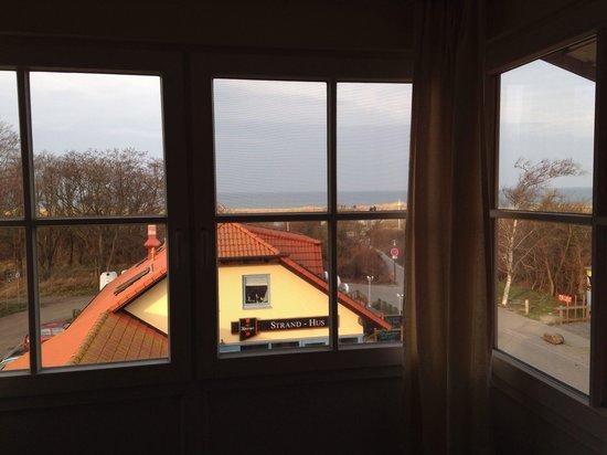 Strandhotel Deichgraf: Zimmer 22, DZ, Blick aus Fenster