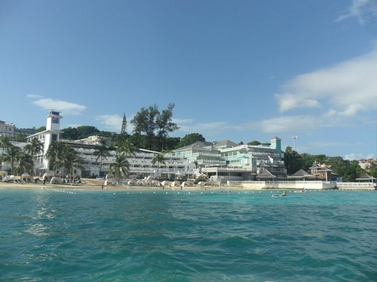 Beaches Ocho Rios Resort & Golf Club: View of resort from ocean