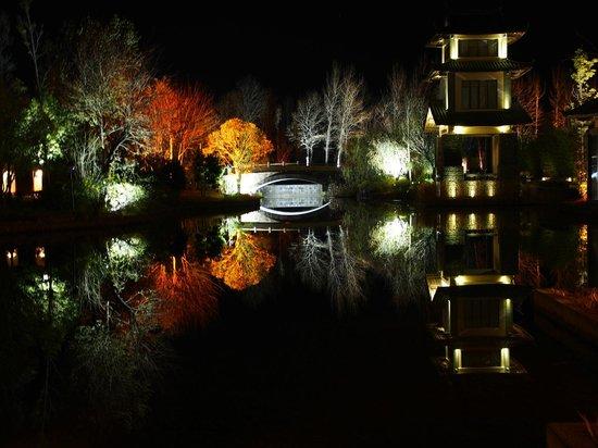 Pullman Lijiang Resort & Spa: View at midnight.