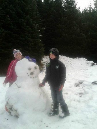 Drimsynie Estate Holiday Village: Abby & Conor with Frosty