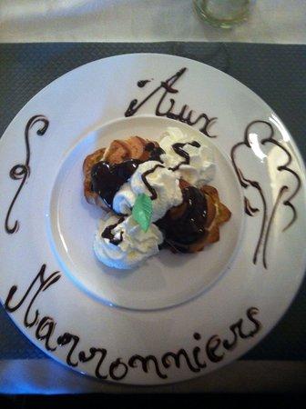 Aux Marronniers : Très bon dessert...