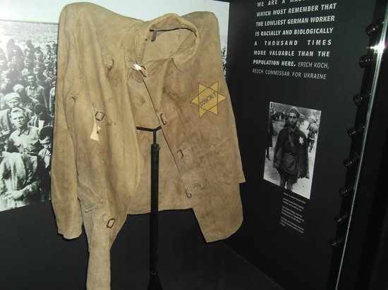 Imperial War Museum: Original Jew Uniform,the Nazi's made people wear.