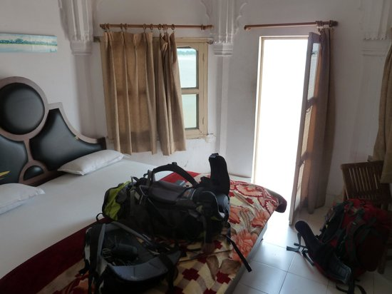Palace on Steps: Our double room overlooking the Ganges
