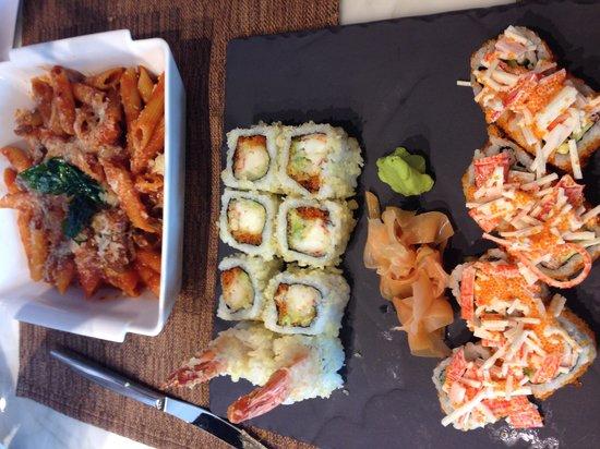 Neo: Sushi and pasta ...