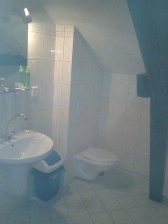 Schlosshotel Mostov: Grosser Balken mitten durch das Badezimmer