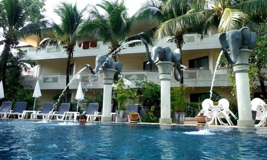 Golden Beach Resort: Elephant Pool nice but small and cold closes at 6 opens at 9