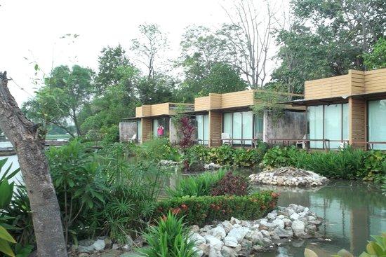 Kasem Island Resort : Bungalows from garden