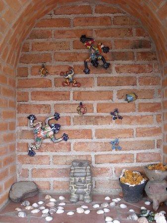 Casa de Dante Hostel: Decoración típica de Guanajuato