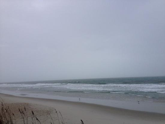 Oceanfront Litchfield Inn : Rainy December morning- This was taken right outside the gate to walkway to beach. you dont have