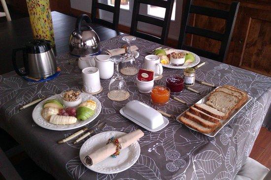 Bed and Breakfast du Lac Delage : Succulents petits déjeuners