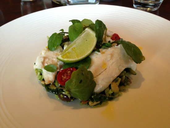 Rocpool Restaurant: Sea Bass salad