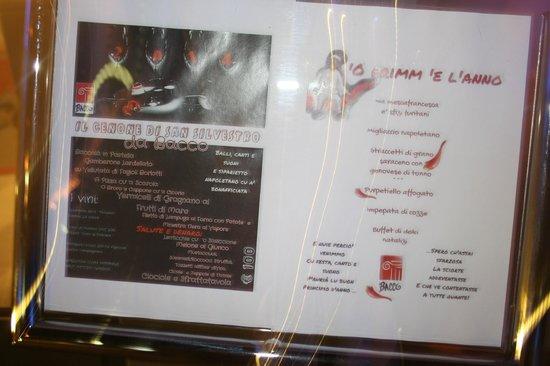 Hotel Bacco: il simpatico menu'