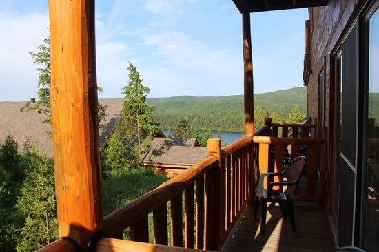 Hotel Sacacomie : Vue sur foret ! Donc dans le cas présent, vue sur lac sans supplément.