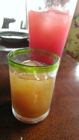 Gynn'AK: Tamarind Margarita (Watermellon juice in the background)
