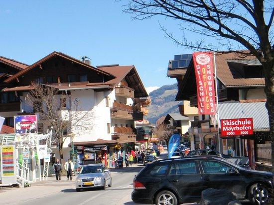 Sporthotel Strass: mayrhofen's main street.