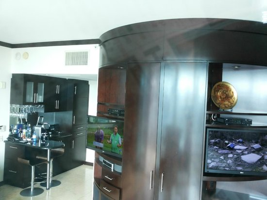 Z Ocean Hotel South Beach: Camera PH-4 con doppio TV e mobile bar