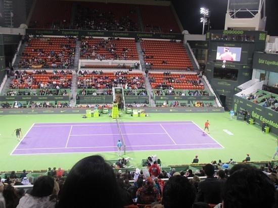 Khalifa Tennis and Squash Complex: Nadal playing in quarter final