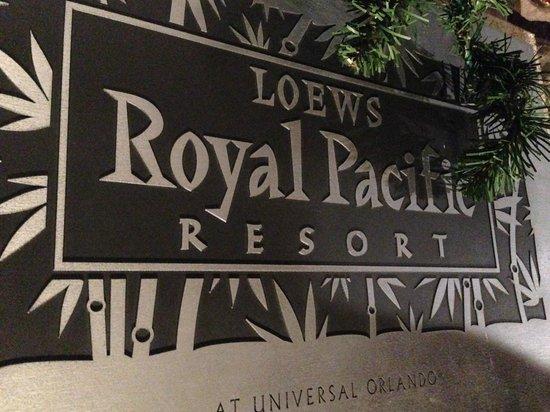 Loews Royal Pacific Resort at Universal Orlando: Sign