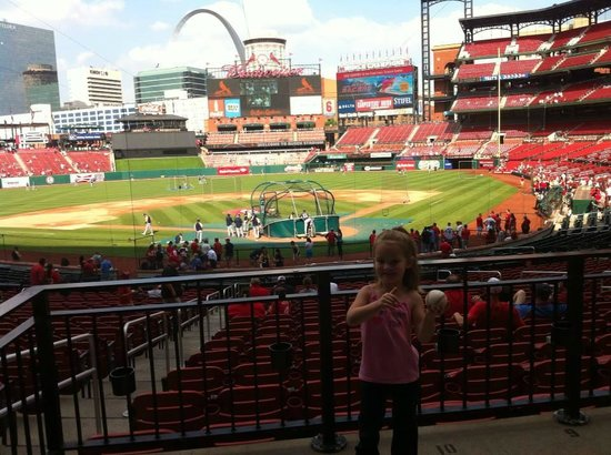 Busch Stadium: She got a baseball