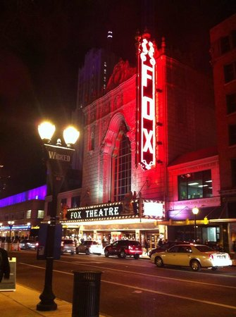 The Fox Theatre : outside of fox theater